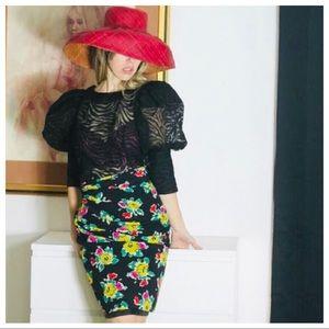 Vintage Bold Red Raffia Incognito Sun Hat